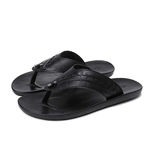 Nero Outdoor anti marrone Casual EU 40 pelle in Wangcui Infradito Scarpe uomini scarpe spiaggia antiscivolo 1EzwP6aq