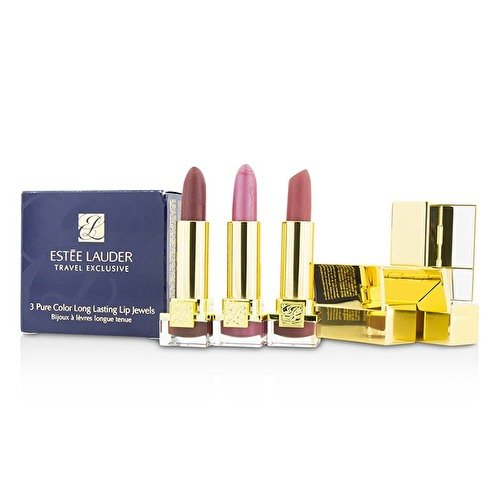 Estee Lauder Travel Exclusive 3 Pure Color Long Lasting Lip Jewels, 0.08 Ounce by Estee Lauder