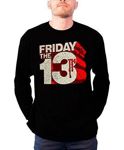 Friday The 13Th Long Sleeve T Shirt Block