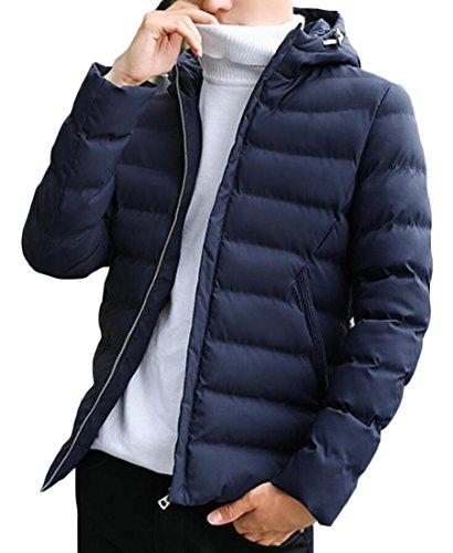 Cappuccio Caldo Pesce amp; Verso Il Giacche Inverno Scuro Uomini Imbottito M amp; Cappotti W Blu S Basso Palla 0YwYH