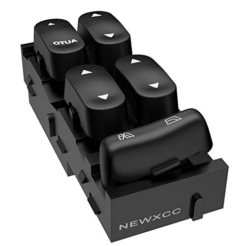 NEWXCC Power Window Switch, Front Left Driver Side Electric Power Window Master Control Switch for 2005 ford Excursion Explorer Sport Trac & 2003-2004 ford F-350 Super Duty