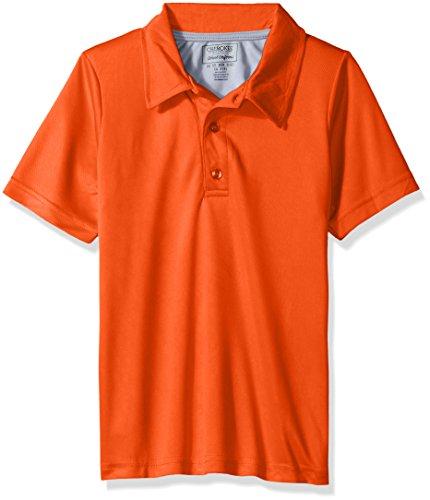CHEROKEE Big Boys' Uniform Short Sleeve Performance Polo, Orange, 10/12 (Shirt Uniform Polyester)