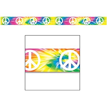 Peace Sign Party Tape Party Accessory (1 count) (1/Pkg)