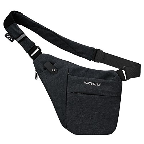 Waterfly Men's Lightweight Anti-Theft Waterproof Casual Chest Shoulder Bag