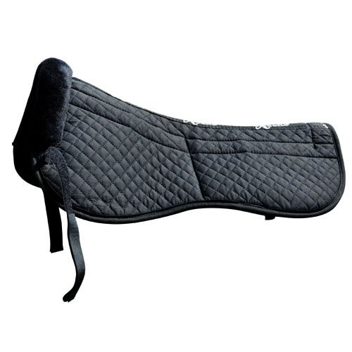 Intrepid International Saddle Fitting Half Pad with Removable Maxtra Foam, Black