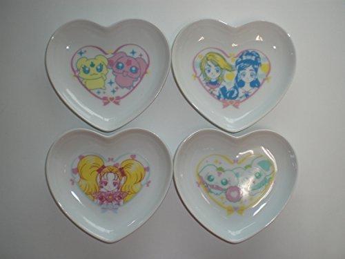 (Most lottery Pretty Cure Max Heart Max Heart Rurun appeared edited by heart-shaped dish set Award four set Torutoru catcher dish plate)