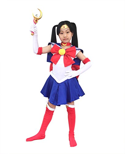 Dazcos Sailor Moon Tsukino Usagi Kids Cosplay Costume (Child M)