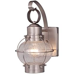 Vaxcel OW21861BN Chatham 7-Inch Outdoor Wall Light, Brushed Nickel