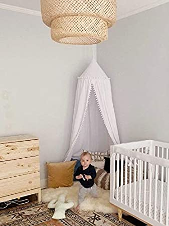 Cotton Mosquito Net Kids Cotton Bed Canopy Room Decoration for Baby Crown1 Kids Princess Play Tents