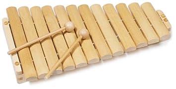 Goki 61969 Musikinstrument Xylophon mit 12 Tönen