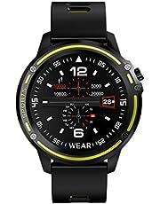 Hemobllo Fitness Tracker Dynamic Heart Rate Blood Pressure Blood Oxygen Mode Waterproof Smart Watch Intelligent Bracelet (Grey)