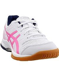 ASICS Gel Rocket 8 Womens Indoor Court Shoe (White/Hot Pink)