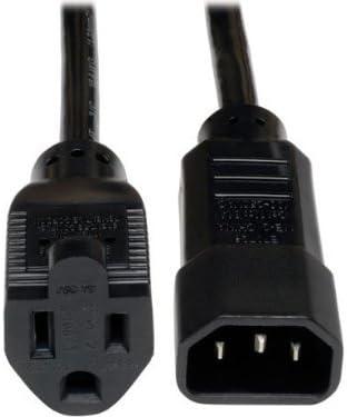 Tripp Lite Standard Computer Power Cord 10A 1-ft. P002-001-10A IEC-320-C14 to NEMA 5-15R 18AWG