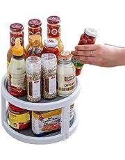 Flawsome's Lazy Susan Cabinet Turntable, Organizer Tray, Kitchen Pantry & Home Storage Organizer  25cm (2-Tier)…