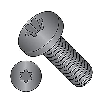 Meets ASME B18.6.3 Pack of 50 #10-24 Thread Size T25 Star Drive Fully Threaded Black Zinc Plated Imported 3//4 Length Steel Pan Head Machine Screw