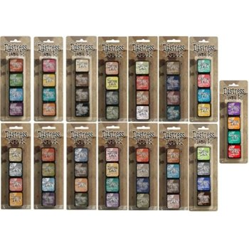 Ranger Tim Holtz Distress Mini Ink Pad Kits Complete Set of 60 pads - All the Colors! Includes Kits #1 through #15 by Ranger, Tim Holtz (Image #1)