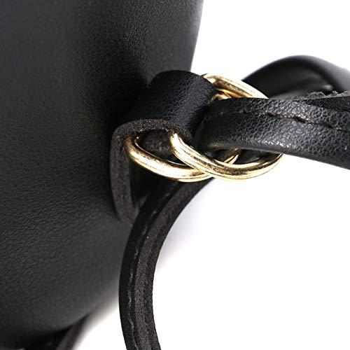 Black Fille capacité à école bandoulière VHVCX Drawstring grande à Sac multifonction Mode Rucksack Voyage féminine dos Sac fU4apq