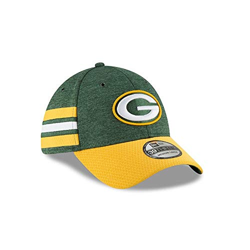 New Era 2018 3930 NFL Green Bay Packers Sideline Home Hat Cap Flex Fit (S/M) from New Era
