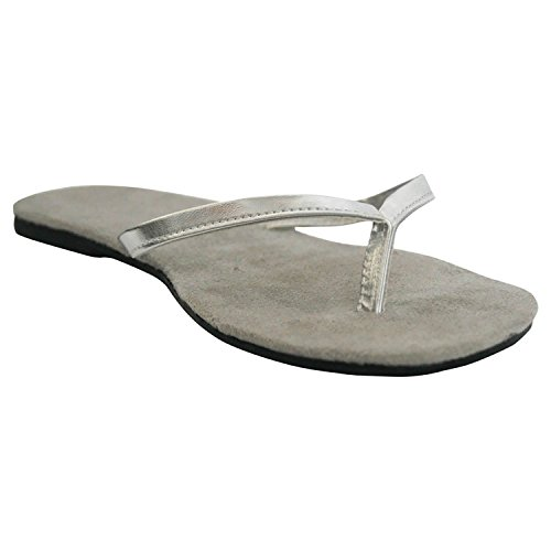 Bendables folding Flip-Flops with Pouch Silver Size 5/6
