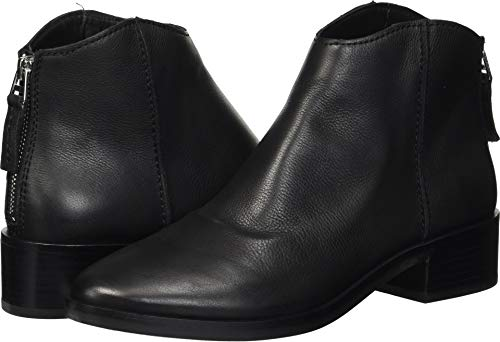 Dolce Vita Women's Tucker Ankle Boot, Black Leather, 8 M US