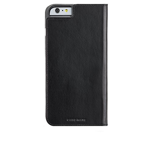 Case-Mate iPhone 6 Plus Case - WALLET FOLIO - Leather iPhone Wallet - ID + Cards + Cash - Apple iPhone 6 Plus / iPhone 6s Plus - Black