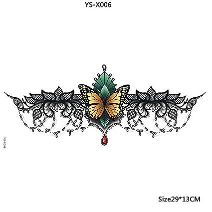 Yangll Impermeable Debajo del Tatuaje del Seno, Sexy Women Tattoo ...