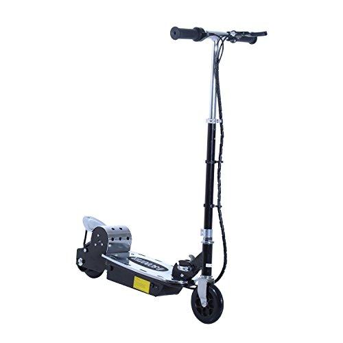 Aosom 120W Teen Folding Motorized Riding Electric Scooter - Black