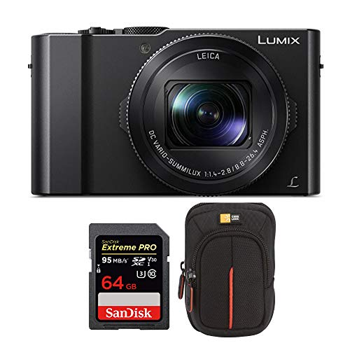 Panasonic LUMIX LX10 4K 20.1MP Digital Camera with Leica 24-72mm Lens (Black),...