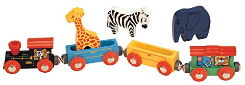 Maxim Wooden Animal Train Set - 7 Piece ()