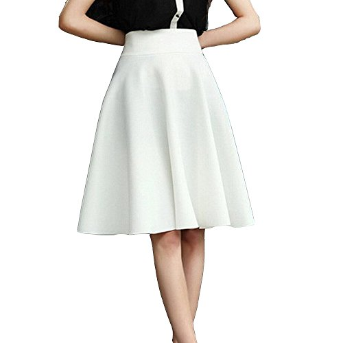 TEERFU - Falda - plisado - para mujer blanco