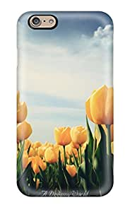 Iphone Case - Tpu Case Protective For Iphone 6- Yellow Tulips