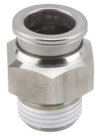 3/8'' x 5/16'' Tube x R(PT) SS Male Adapter by SMC