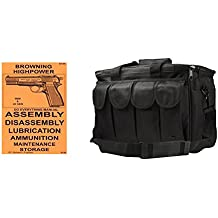 Browning Highpower Do Everything Manual + Ultimate Arms Gear Heavy Duty Large Range Gear Bag With Magazine Ammo Pouches