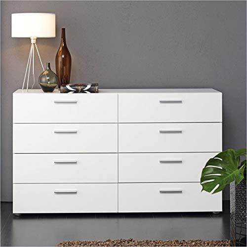 Tvilum Austin 8-Drawer Dresser, White (White Of Drawers Off Chest)