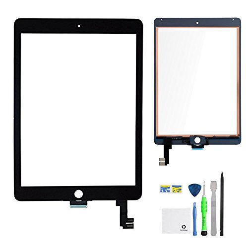 iPad Air 2 Screen Replacement,FixCracked iPad air 2 Digitizer Glass,Only for Professional Person,Not Include LCD, PreInstalled Adhesive with tools kit(A1566,A1567)-Black by FixCracked