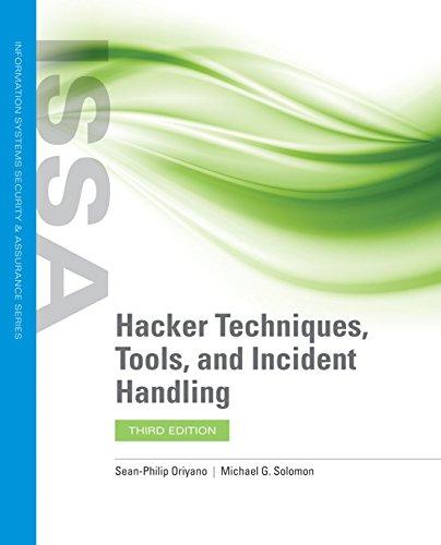 Hacker Techniques, Tools, and Incident Handling