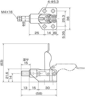 育良精機:トグルクランプ ISK-060