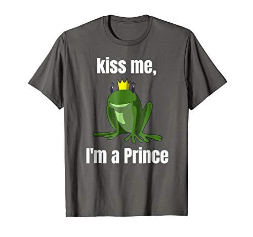 Kiss Me T-Shirt Easy Funny Frog Prince Halloween Costume Tee