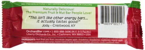 Orchard Bars Fruit and Nut Bar, Strawberry/Raspberry/Walnut, 1.4 Ounce (Pack of 12) by Orchard Bars (Image #3)'