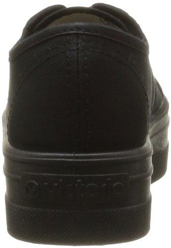Victoria Basket Lona Plataf, Zapatillas Bajos de Deporte Unisex Negro (10 Negro)