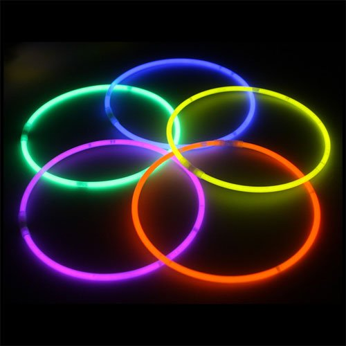"Crown Display 100 22"" Glow Necklaces Light Neon Glow Stick - Assorted Colors WHOLESALE PACK"