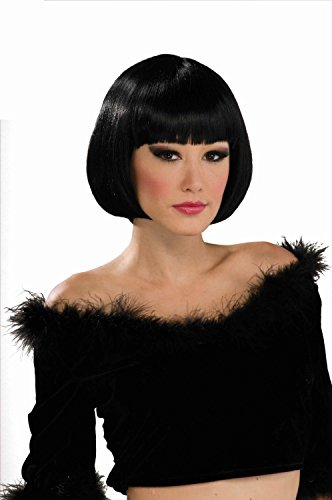 [Forum Novelties Women's Chic Bob Costume Wig, Black, One Size] (Halloween Costumes For Asian Women)