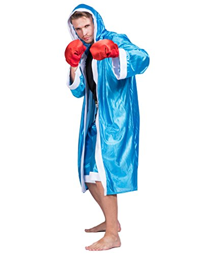 EraSpooky Men's Adult Boxer Halloween Boxing Costume(Blue, OneSize)