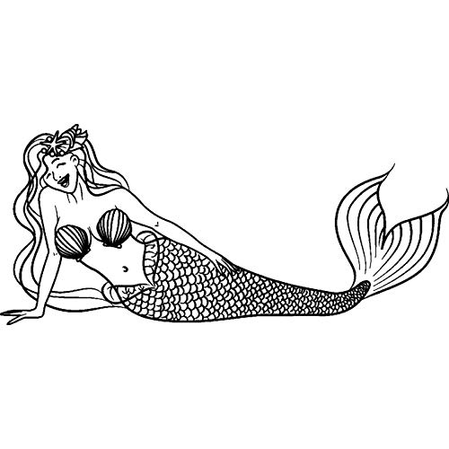 A8 Mermaid Unmounted Rubber Stamp RS00028873