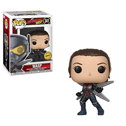 Funko Pop! Marvel: Ant-Man & the Wasp - Unmasked Wasp CHASE Limited Edition Vinyl Figure (Bundled with Pop Box Protector Case)