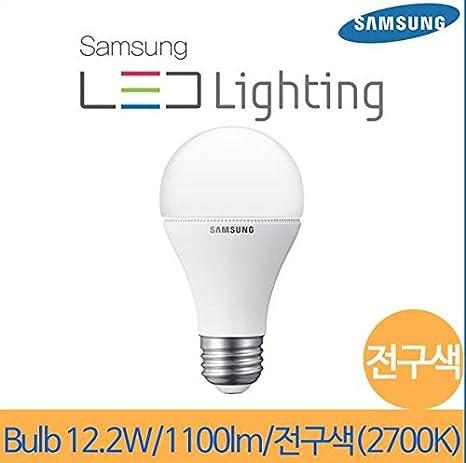 Samsung 12,2 con bombilla LED de luz de la lámpara E26 (=E27) 220 V 2700 K blanco cálido/sustituir las tradicionales 75 W: Amazon.es: Iluminación