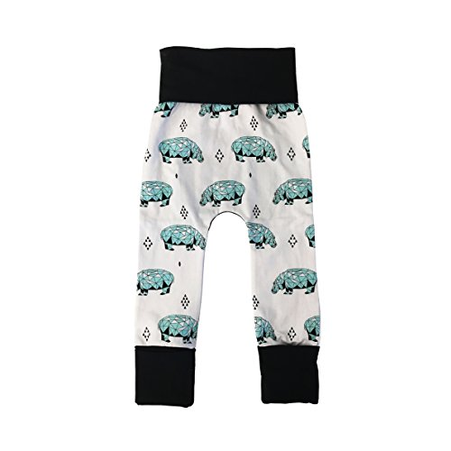 Organic Cotton Baby Leggings Toddler Pants Grow With Me Fayebeline Boutique Kids Clothes Hippo 12M-3T