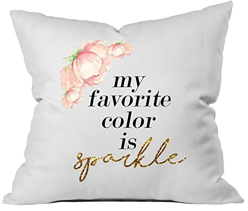 Oh, Susannah my favorite color is sparkle 18x18 Inch Throw Pillow Cover Valentines Day Gifts for Her (Christmas Gift Baskets Denver)