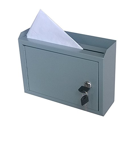 FixtureDisplays Metal Wall-Mountable Interoffice Mailbox Donation Box 10x7.2x3'' 15211-NF by FixtureDisplays (Image #3)