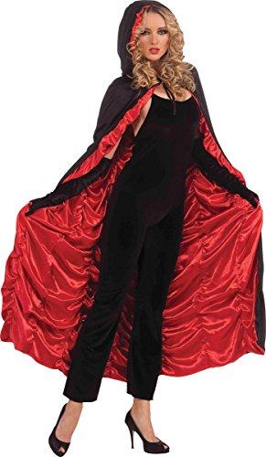 Womens Halloween Fancy Dress Party Costume Vampire Ruffle Cloak Coffin Cape Only